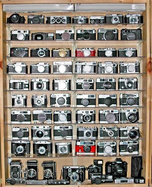 Colección de cámaras de fotos